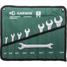 Набор ключей рожковых 8 предметов 6х7-22х24 мм GARWIN (GR-ODK02)