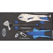 Набор ручные тиски, переставные клещи, разводной ключ EVA LICOTA (ACK-E38309)